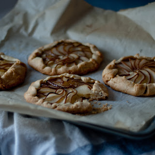 Brandied Pear Galette with Almond Cream Filling (based on White on Rice Couple)