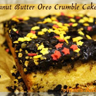 Peanut Butter Oreo Crumble Cake