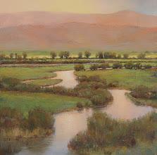 "Photo: My newest painting... ""Sliver Creek Sunrise"" 36x36 oil/canvas ©2011 LMcNee"