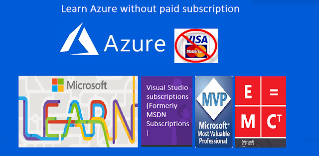 How to learn Azure without paid subscription