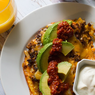 Spicy Chorizo Omelet.