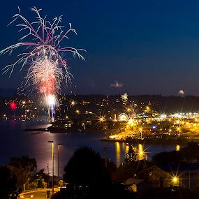 Fireworks by Amy Spurgeon - City,  Street & Park  Vistas ( fireworks, night, long exposure )