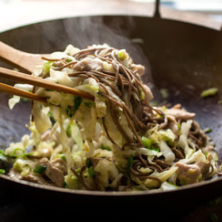 Stir-Fried Soba Noodles With Turkey and Cabbage