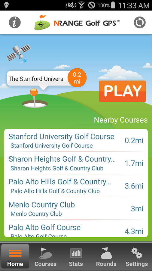 nRange Golf GPS- screenshot