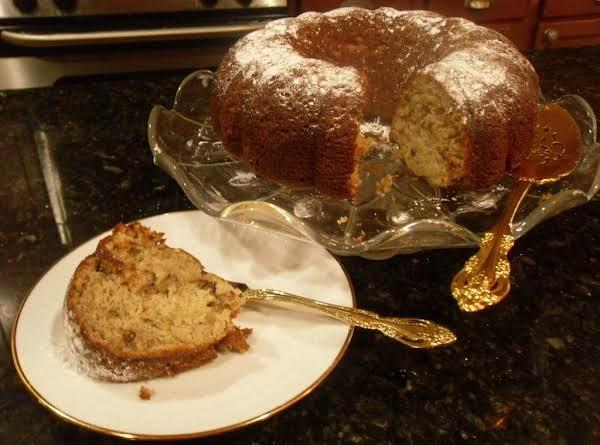 Banana Walnut Sour Cream Bunt Cake Recipe