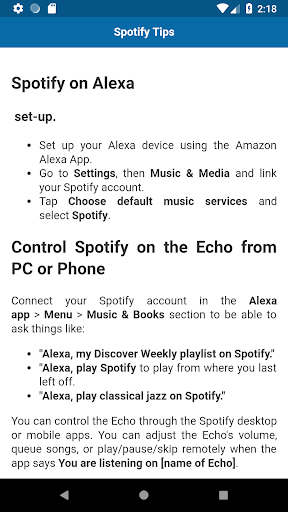 Tips and Tricks for Amazon Echo 1.0 screenshots 2
