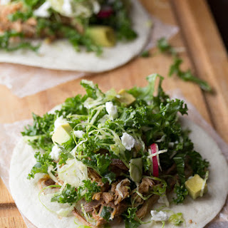 Maple Pork Tacos with Brussels Sprouts & Kale Slaw