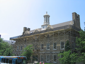 Photo: Proper scaffolding and fall protection at Cornell University, Ithaca, New York