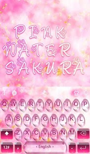 Pink Water Sakura Keyboard Theme- screenshot thumbnail