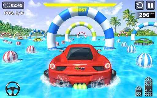 Code Triche Water Surfing Car Stunts APK Mod screenshots 1