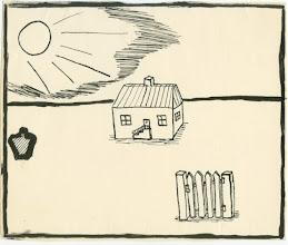 Photo: Tegning af poj o. 1960
