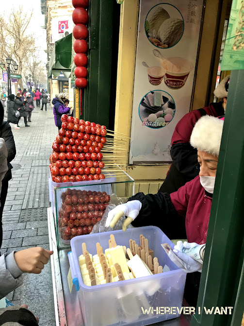 Street food in Harbin, China | What to eat in Harbin, China | Sausages in Harbin | Desserts in Harbin | Local foods in Harbin, China