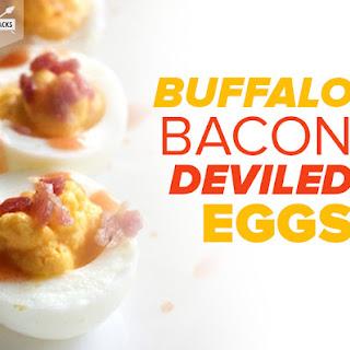 Spicy Buffalo Bacon Deviled Eggs