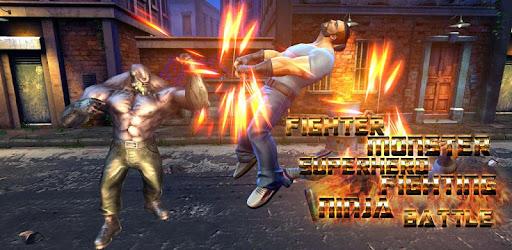 Fighter Monster Superhero ninja Fighting Battle