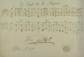 """Photo: """"El cant de la senyera"""" by Lluis Millet - Biblioteca de l'Orfeo Catala"""