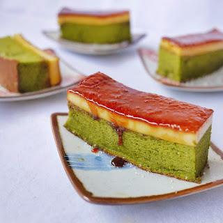 {Recipe} Creme Brulee Green Tea Chiffon Cake