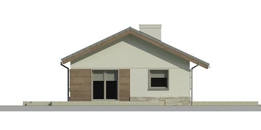 Dom przy Przyjemnej 2 bis - Elewacja lewa