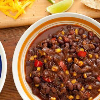 Pressure Cooker Vegan Black Bean Chili.