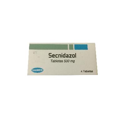 Secnidazol Saimed 500mg x 4 Tabletas