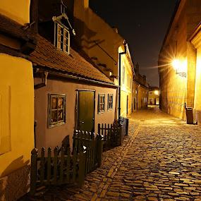 Golden Street I. by Drahomír Škubna - City,  Street & Park  Historic Districts