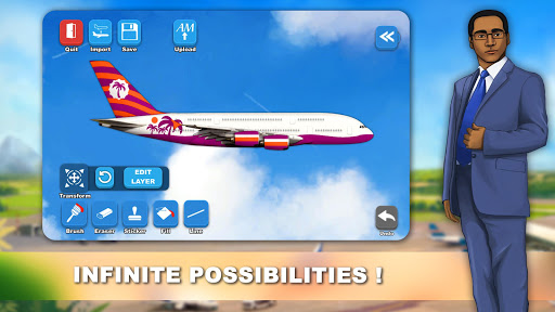 Airlines Painter  Wallpaper 4