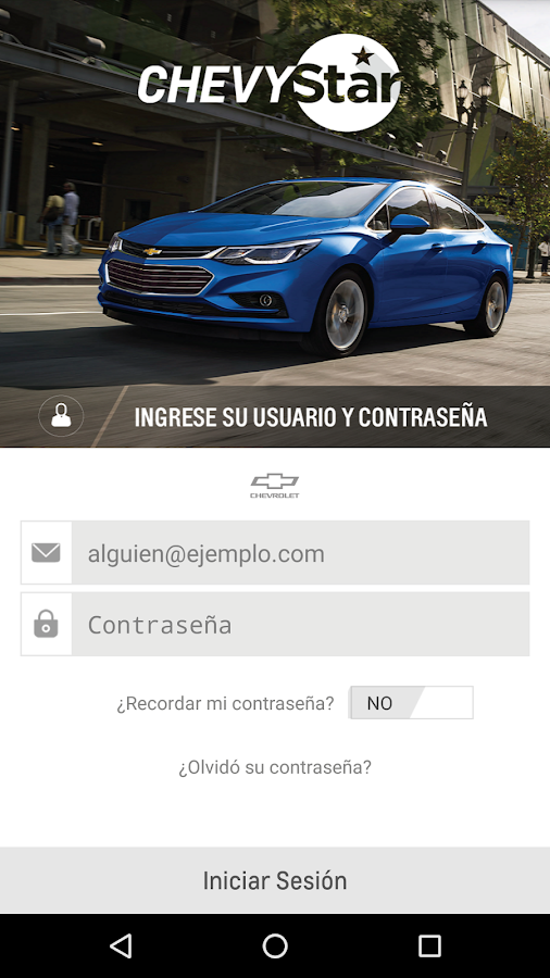 ChevyStar App: captura de pantalla