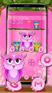 Cute Owl Mobile Theme - náhled