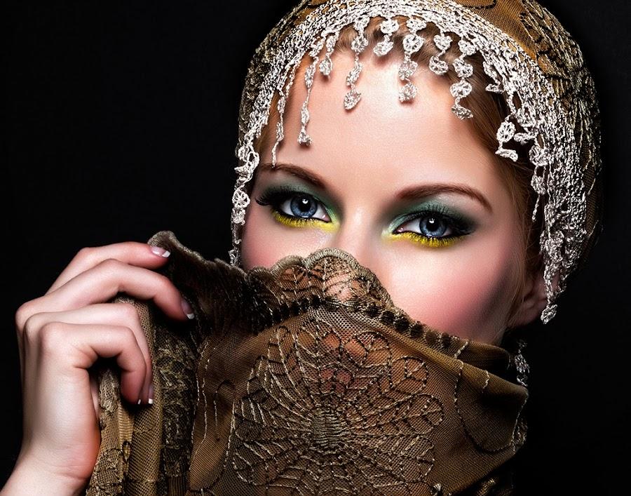 The eyes by Henry Nguyen - People Portraits of Women ( scalf, fashion, girl, beauty, portrait, eye, beautiful, woman )