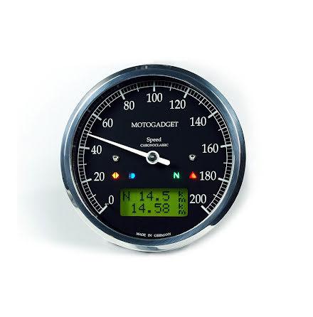 Chronoclassic Svart Hastighetmätare polerad kant