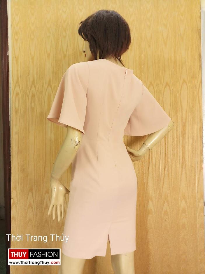 Váy bút chì tay loe xếp ly trước ngực V680 thời trang thủy quảng ninh