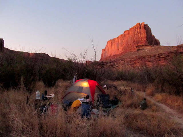 Horseshoe camp before sunrise