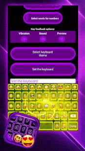 Neon Emoji Keyboard - náhled