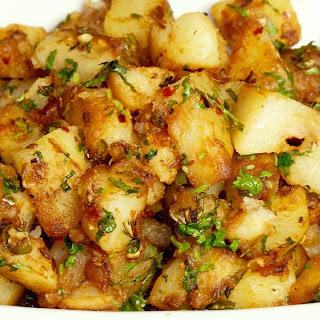 Chatpate Aloo (Spicy Stir-Fry Potatoes) Recipe