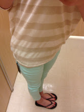 Photo: Gold striped top with mint capris... both from the Kardashian Kollection.