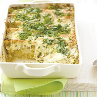 Chicken Enchiladas with Creamy Green Sauce