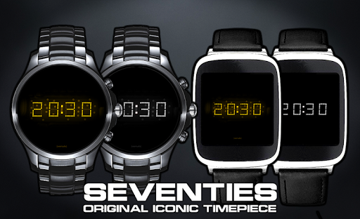 Download LED watch face | Vintage | Seventies Amber MOD APK 3