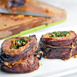 Roasted Red Pepper Stuffed Flank Steak