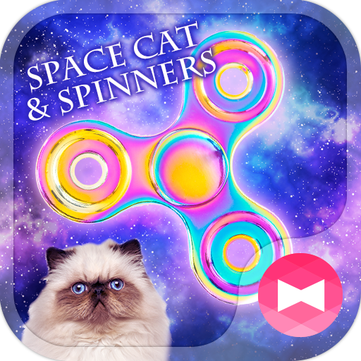 Cool Wallpaper Space Cat & Spinners Theme