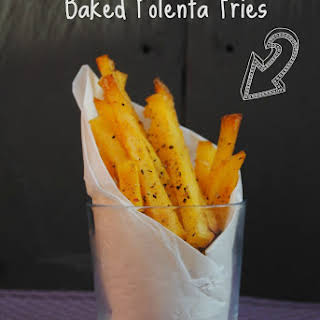 Baked Garlic Polenta Fries.