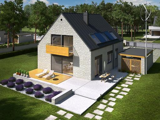 projekt E9 z wiatą wersja A Energo Plus