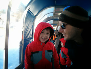 Photo: Daddy and Clark Tubing (with Finn and Mommy)