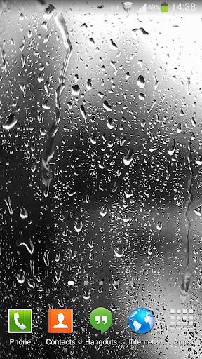 Raindrops Live Wallpaper HD 8 3.0 screenshots 1