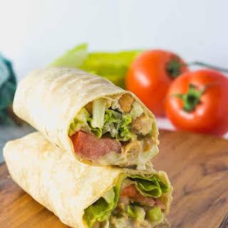 Chickpea Salad Wraps.