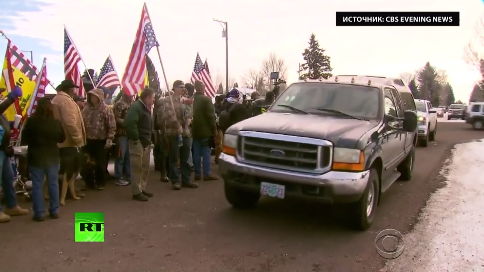 Russian media predicted the collapse of the USA during the farmers' protests in Oregon. Its messaging for the events was similar to those which is employed to describe the Euromaidan revolution in Ukraine.