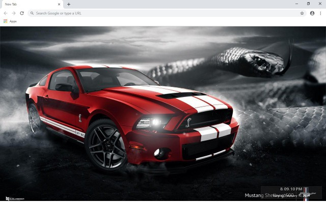 Ford Mustang New Tab & Wallpapers Collection