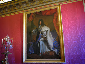 Photo: Louis XIV, the Sun King. He built the palace, lived there until his death.