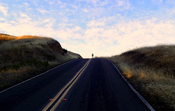 Photo: Lonely cyclist on Ridgecrest Road, Mt. Tam