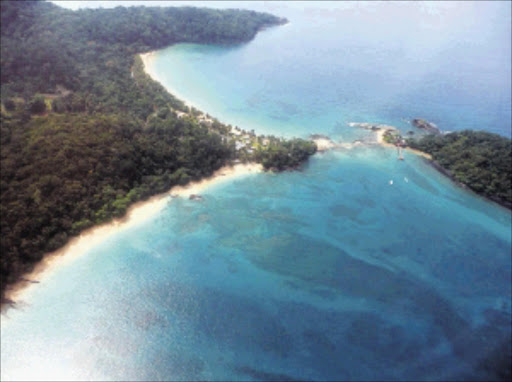 An aerial view of the Bom Bom Island Resort on the northern shore of Príncipe Picture: WWW.AFRICAS-EDEN.COM