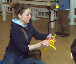 Photo: making a yellow spider
