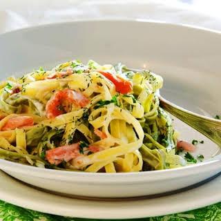 Italian Delicacy – Tagliatelle with Smoked Salmon.